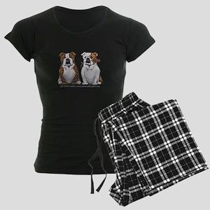 Bulldog Romance Women's Dark Pajamas