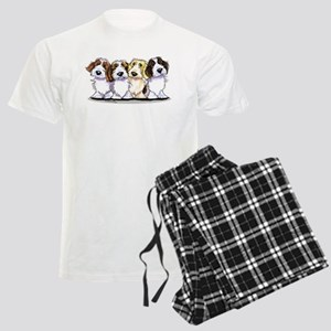 Four PBGV Men's Light Pajamas