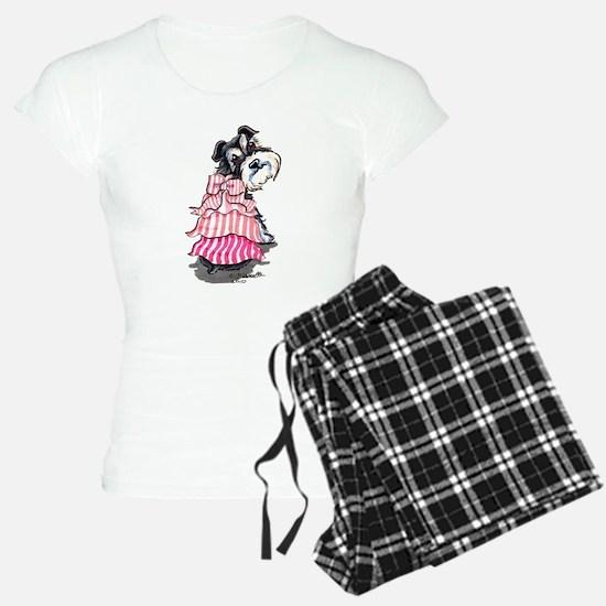 Girly Schnauzer Pajamas