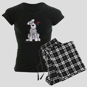Schnauzer Sweetheart Women's Dark Pajamas