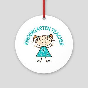 Cute Kindergarten Ornament (Round)