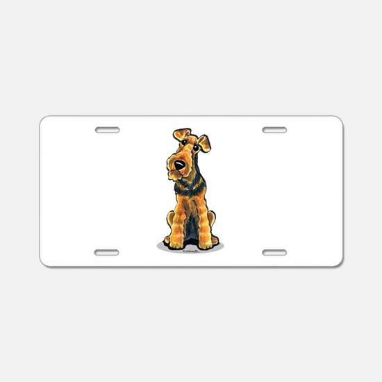 Airedale Welsh Terrier Aluminum License Plate