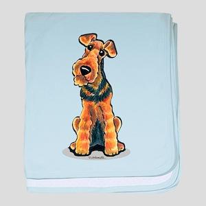 Airedale Welsh Terrier baby blanket