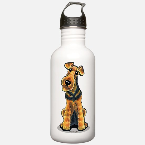 Airedale Welsh Terrier Water Bottle