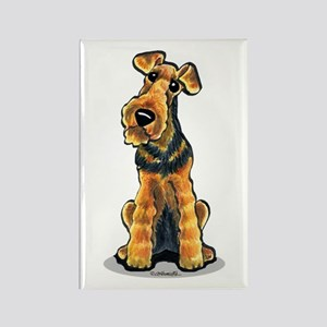 Airedale Welsh Terrier Rectangle Magnet