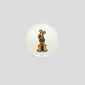 Airedale Welsh Terrier Mini Button