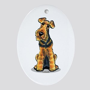 Airedale Welsh Terrier Ornament (Oval)