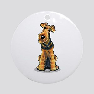 Airedale Welsh Terrier Ornament (Round)