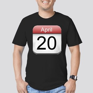 4:20 Date Men's Fitted T-Shirt (dark)