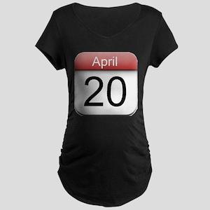 4:20 Date Maternity Dark T-Shirt