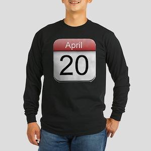 4:20 Date Long Sleeve Dark T-Shirt