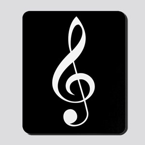 Music Lover Treble Clef Musician Mousepad
