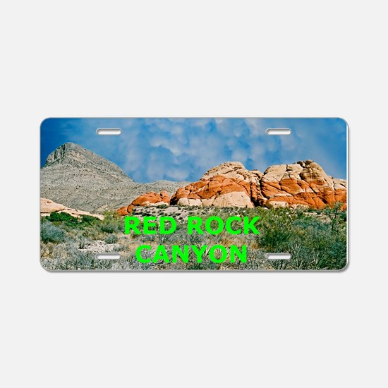 Red Rock Canyon Aluminum License Plate