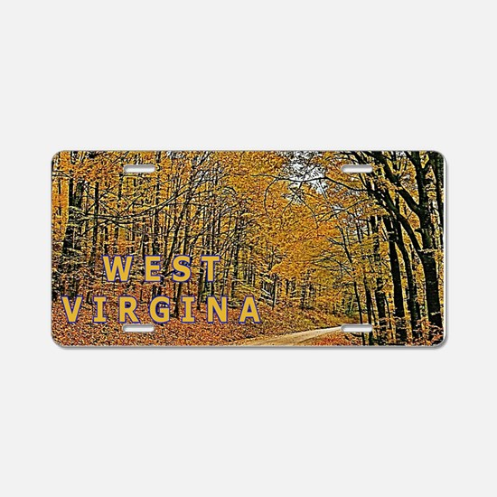 West Virginia Aluminum License Plate