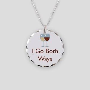 I Go Both Ways Necklace Circle Charm