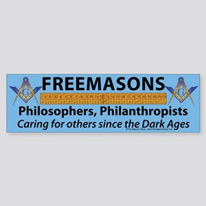 What Masons Do Sticker (Bumper)