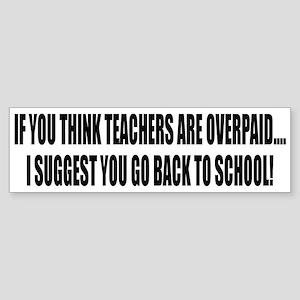 Teachers Sticker (Bumper)
