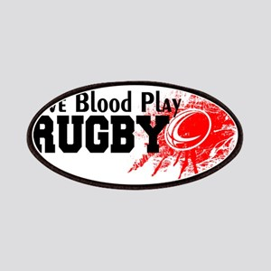 Give Blood Play Rugby Patch