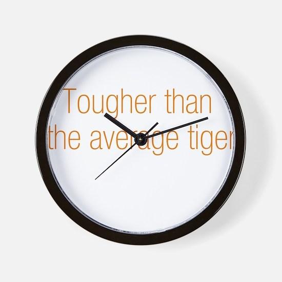 Average Tiger Wall Clock