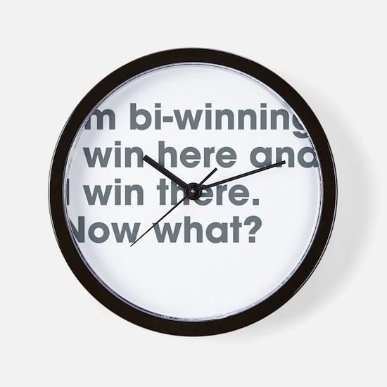 Bi-Winning Wall Clock