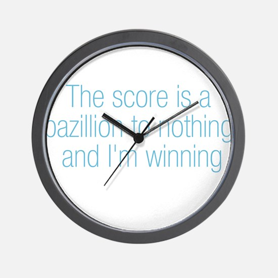 Bazillion to Nothing Wall Clock