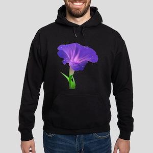 Morning Glory Flower Hoodie (dark)