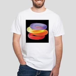 Gel Bracelets White T-Shirt
