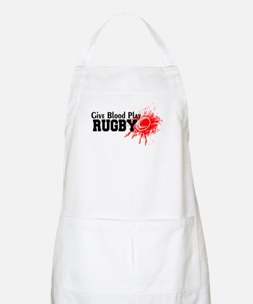 Give Blood Play Rugby Light Apron