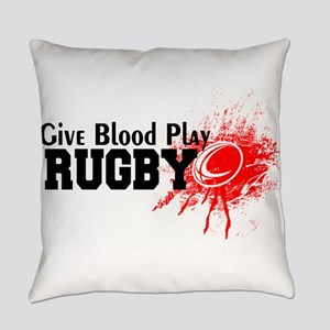 Give Blood Play Rugby Everyday Pillow