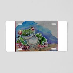 Tree Frog, Fun, Colorful, Aluminum License Plate