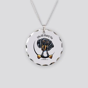 Dapple Dachshund IAAM Necklace Circle Charm