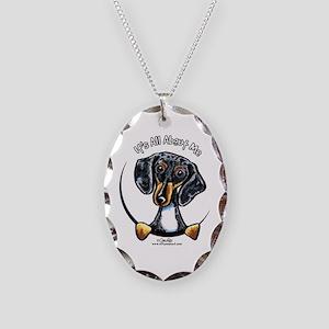 Dapple Dachshund IAAM Necklace Oval Charm