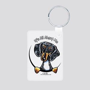Dapple Dachshund IAAM Aluminum Photo Keychain