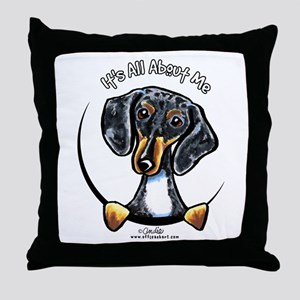Dapple Dachshund IAAM Throw Pillow