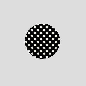 Black and White Polka Dot Mini Button
