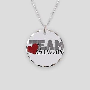 Team Edward Necklace Circle Charm