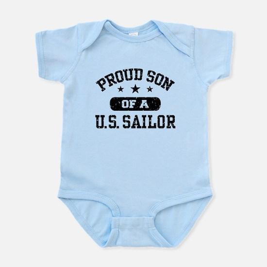 Proud Son of a US Sailor Infant Bodysuit
