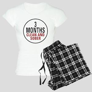 3 Months Clean & Sober Women's Light Pajamas