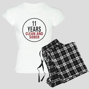 11 Years Clean & Sober Women's Light Pajamas