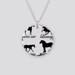 Horse Cars Necklace Circle Charm