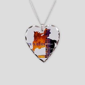 Turn 'n Burn Necklace Heart Charm