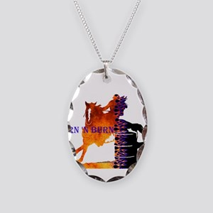 TNB Paint/Pinto Necklace Oval Charm