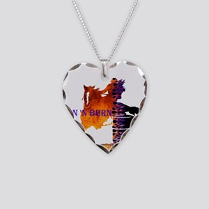 TNB Paint/Pinto Necklace Heart Charm