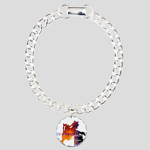 TNB Paint/Pinto Charm Bracelet, One Charm