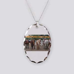 Big Butts Necklace Oval Charm