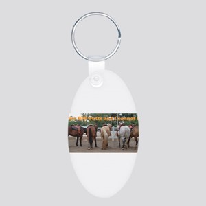 Big Butts Aluminum Oval Keychain