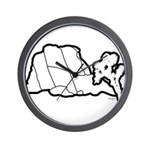 Jtree and Intersection Rock Wall Clock