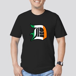 Detroit Irish D Men's Fitted T-Shirt (dark)