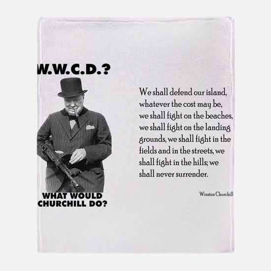 What Would Churchill Do - Nev Throw Blanket