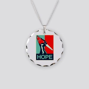 Ivory-Billed Woodpecker Necklace Circle Charm